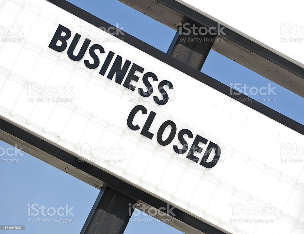Another Out Of Business Sign stock photo
