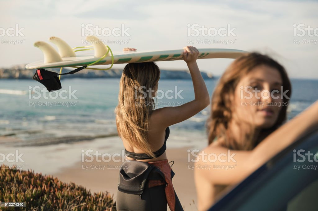 Another surf day stock photo