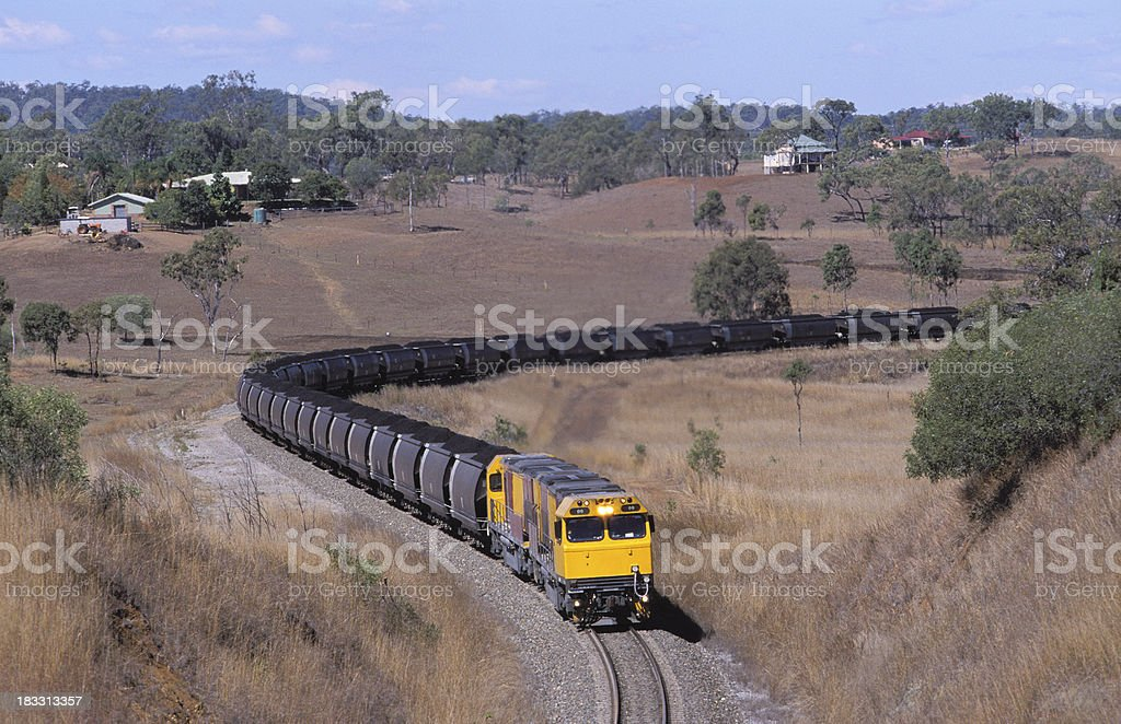 Another trainload of black coal stock photo