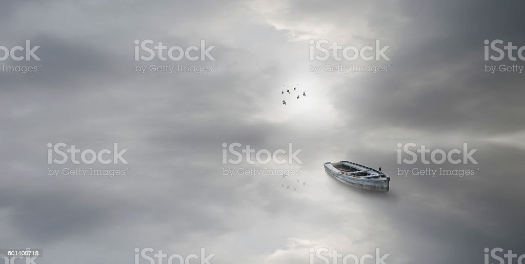 Another world- abstract panorma cloudscape stock photo