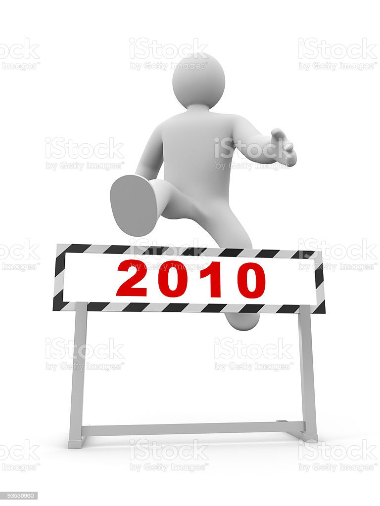 Another year behind royalty-free stock photo