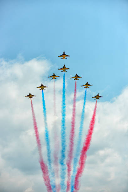 ansan air show 2013 - black eagles - airshow stock photos and pictures