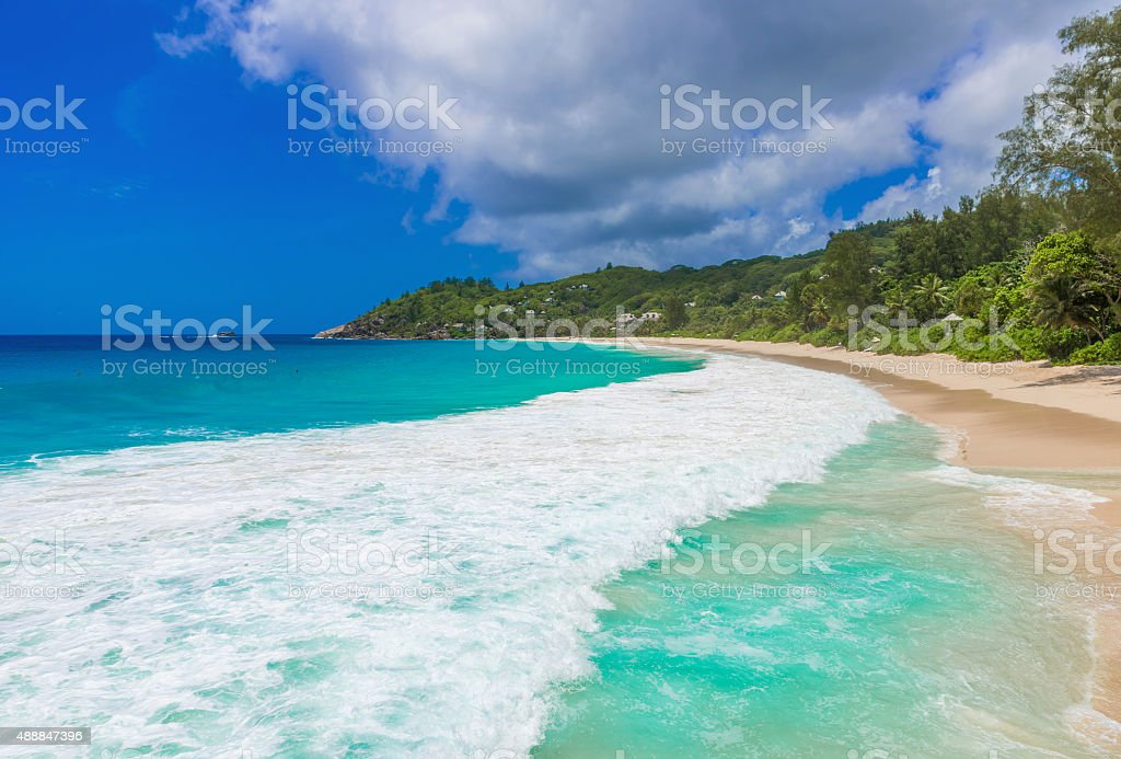 Anse Intendance - Beach in Seychelles, Mahé stock photo