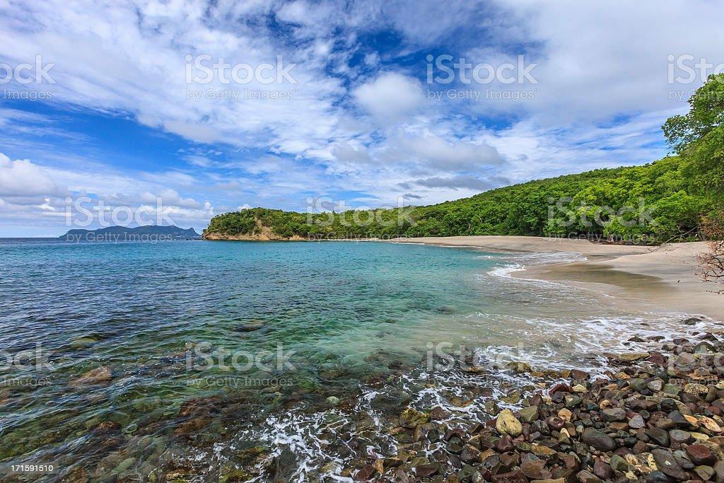 Anse La Roche Beach, Carriacou stock photo