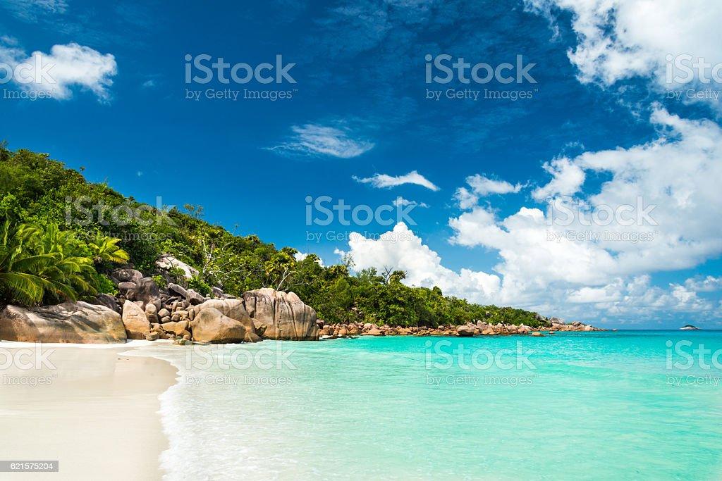 Plage d'Anse Lazio sur l'île de Praslin, Seychelles photo libre de droits