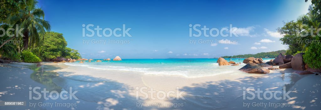 anse lazio beach praslin island seychelles stock photo