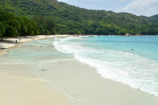 Anse Lazio Paradise Beach stock photo