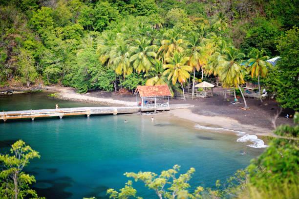 Anse Noire Beach in Martinique stock photo