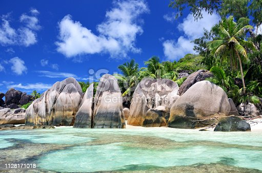 Seychelles is the most beautiful tropical islands of the world's in the Indian Ocean. Composite photo