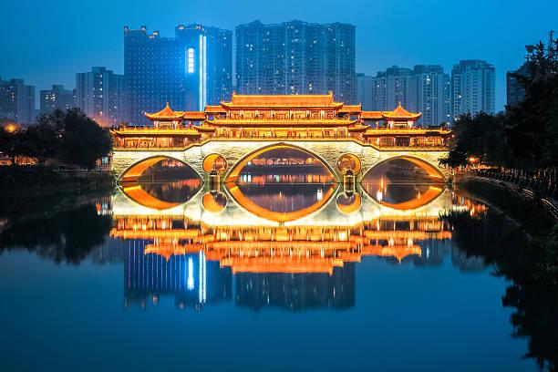anshun Brücke in der Abenddämmerung – Foto