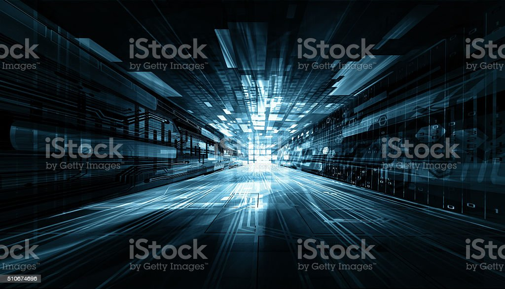 anstract tech futuristic background stock photo