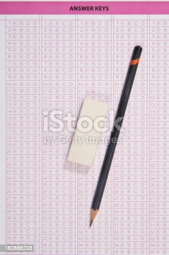 istock Answer sheet 182888203