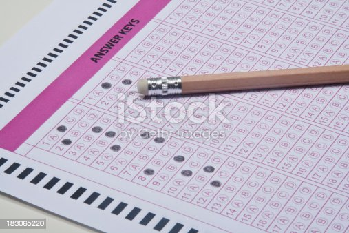 istock Answer sheet 183065220
