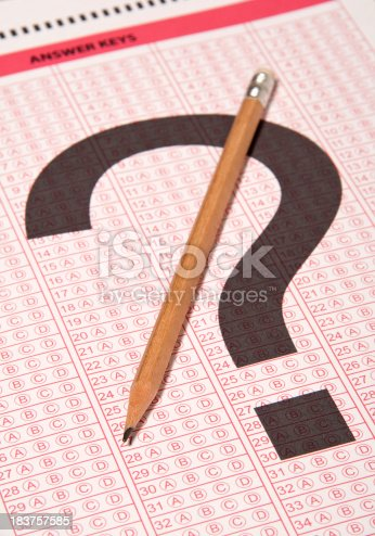 istock Answer sheet 183757585