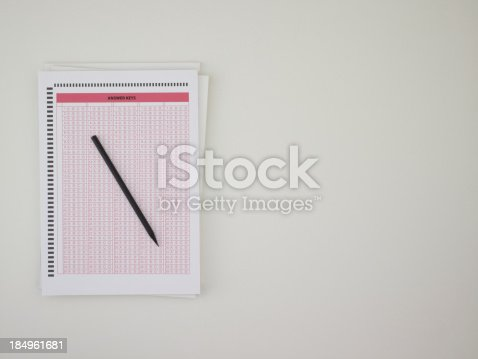 istock Answer sheet 184961681