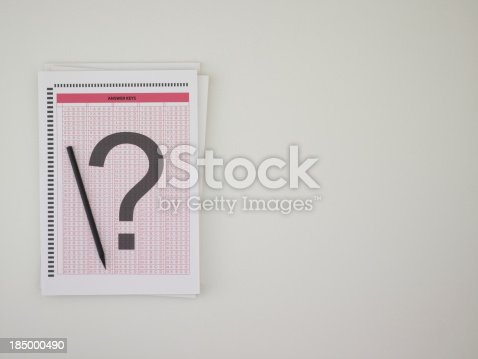 istock Answer sheet 185000490