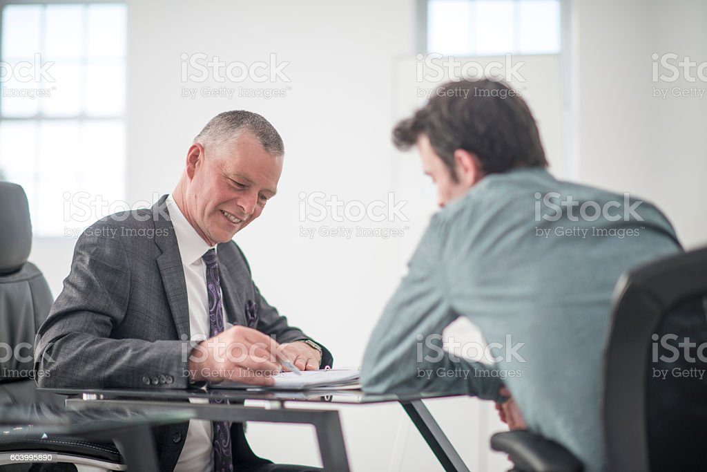 Answering Question During an Interview stock photo