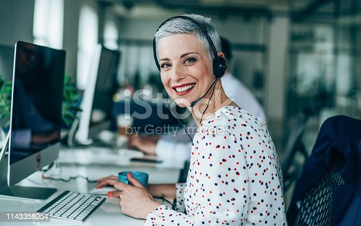 istock Answering your call with a smile 1143358054