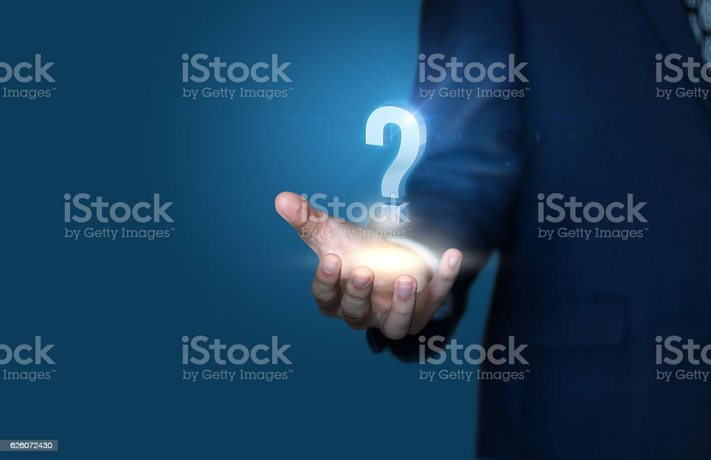 answers to the questions stock photo