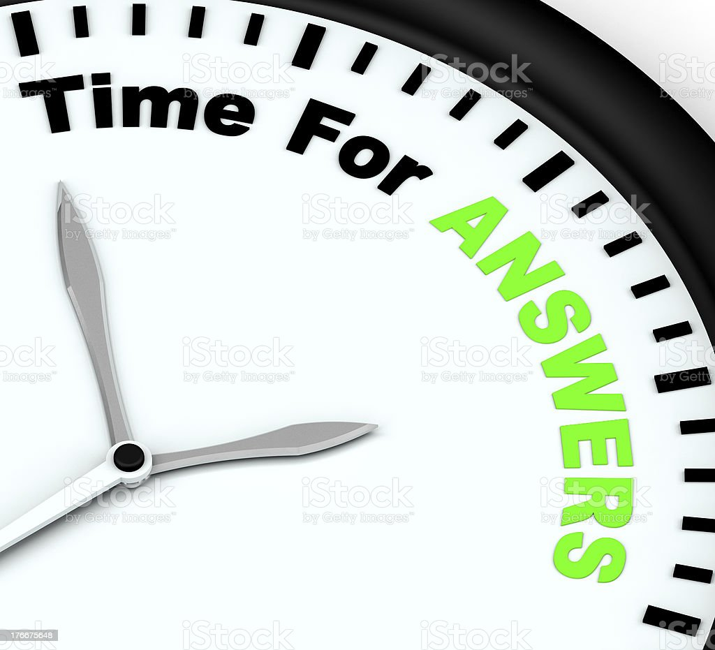 Answers Word On Clock Shows Solution Knowledge And Wiki royalty-free stock photo
