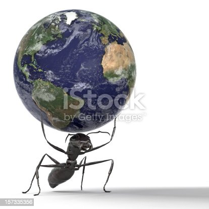 istock Ant Lifting the Earth 157335356
