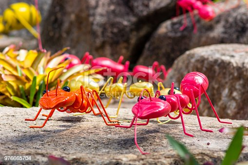 A model of plastic ant in a modern farm