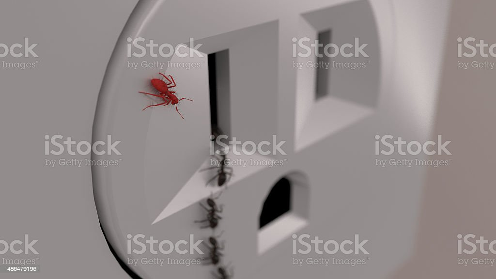 Ant rebellion and leadership stock photo