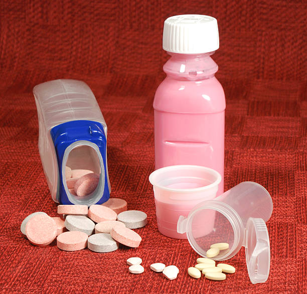 Antiácido medicamento. - foto de stock