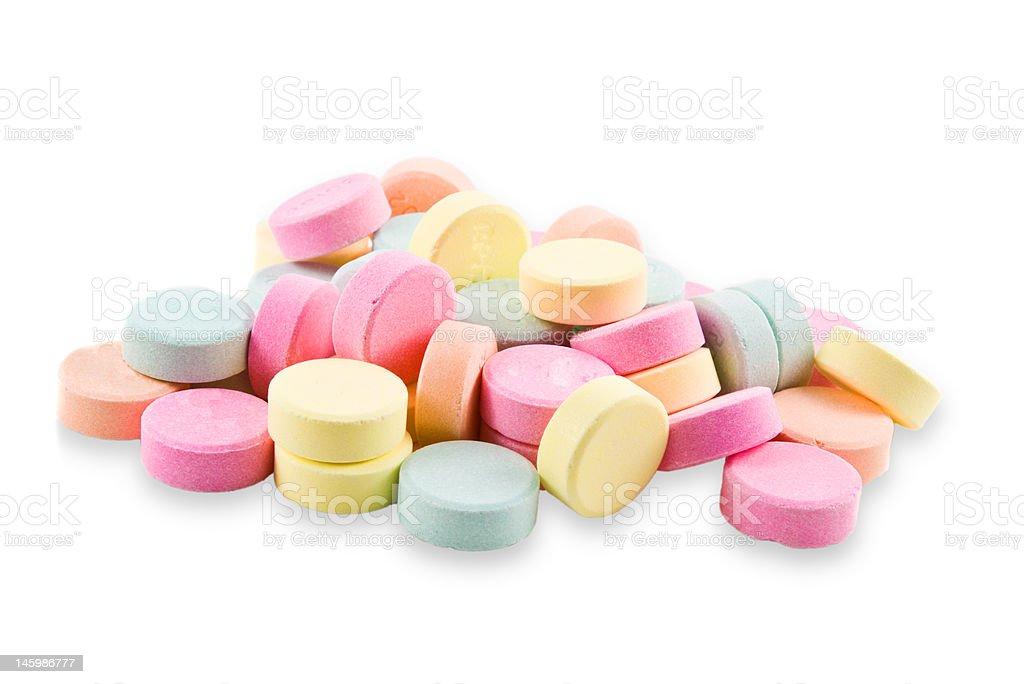 Antacid Tablets stock photo