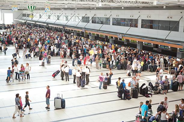 Antalya airport. stock photo