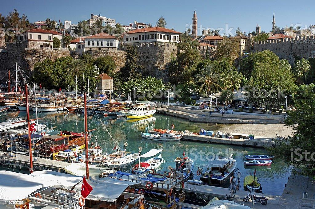 Antalya Old Harbor stock photo