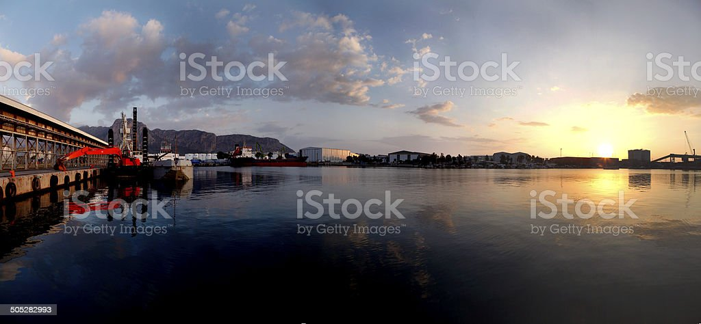 Antalya Port panorama stock photo