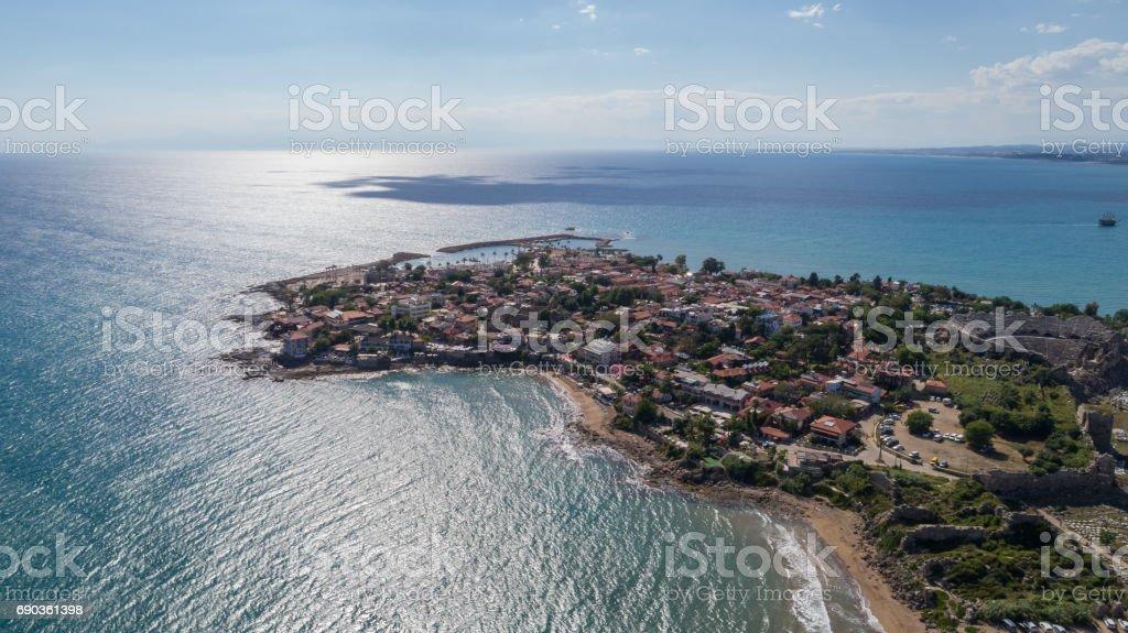 Antalya side antique city stock photo