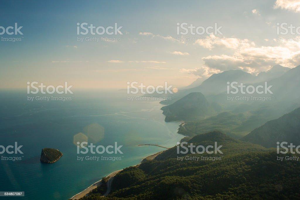 Antalya taurus mountains stock photo