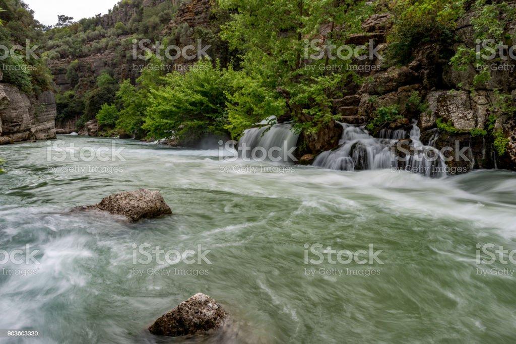 Antalya - Turkey. May 01, 2017. Koprulu Canyon, Manavgat, Antalya - Turkey. stock photo