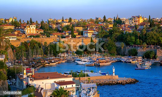 istock Antalya, Turkey, the Kaleici Old Town and harbour 1049469536