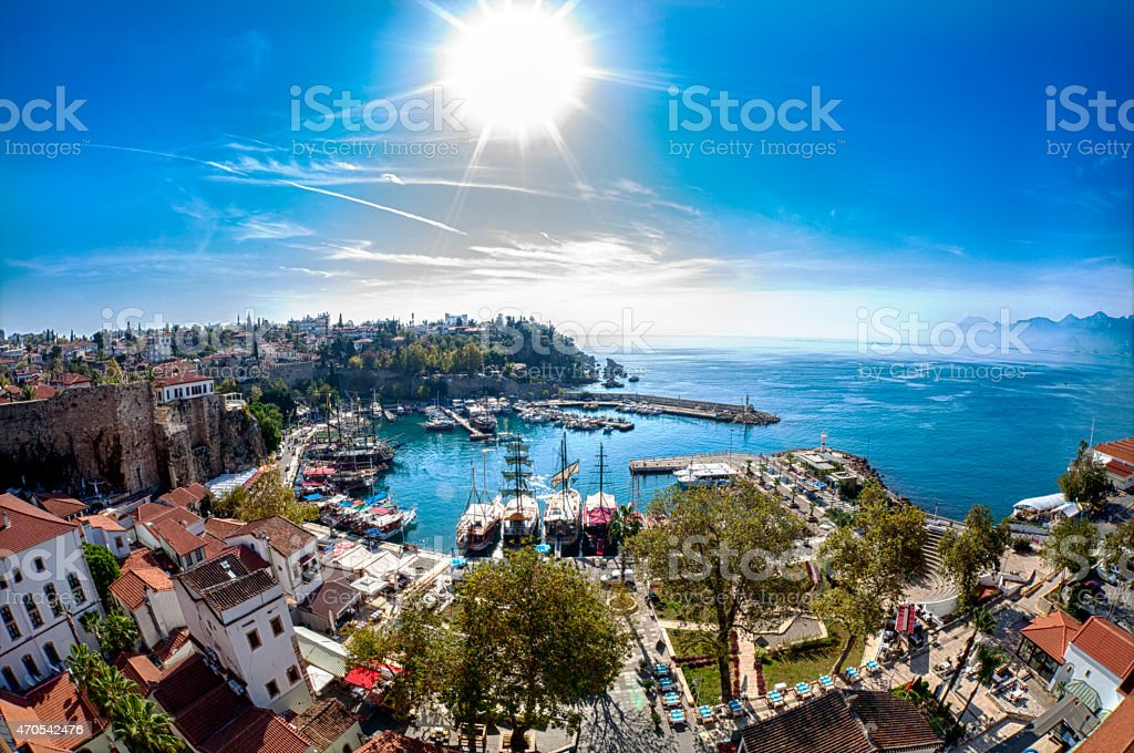 Antalya-Old Town-Harbor stock photo