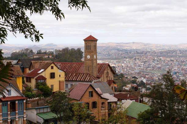 Antananarivo cityscape, capital of Madagascar stock photo