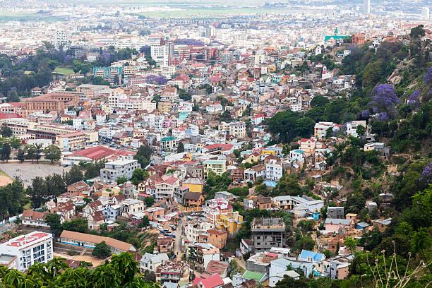 Antananarivo cityscape, Tana, capital of Madagascar stock photo