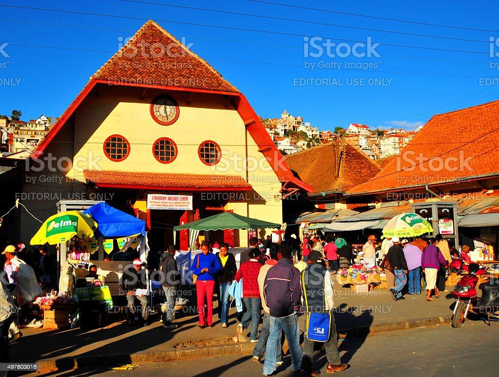 Antananarivo, Madagascar: Analakely Market, Zoma square stock photo