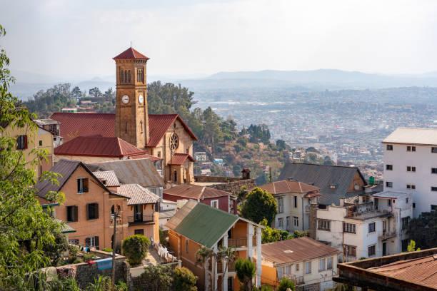 Antananarivo Madagascar buildings and city view, cityscape of capital stock photo