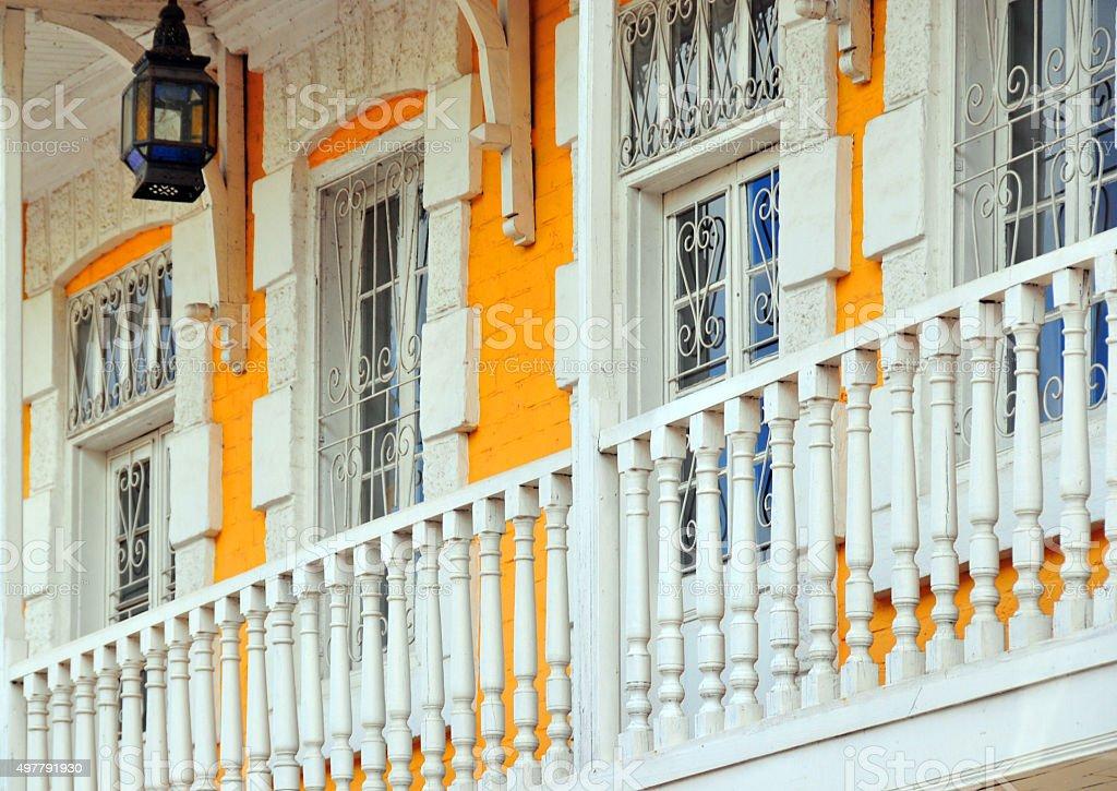 Antananarivo, Madagascar: colonial balcony stock photo