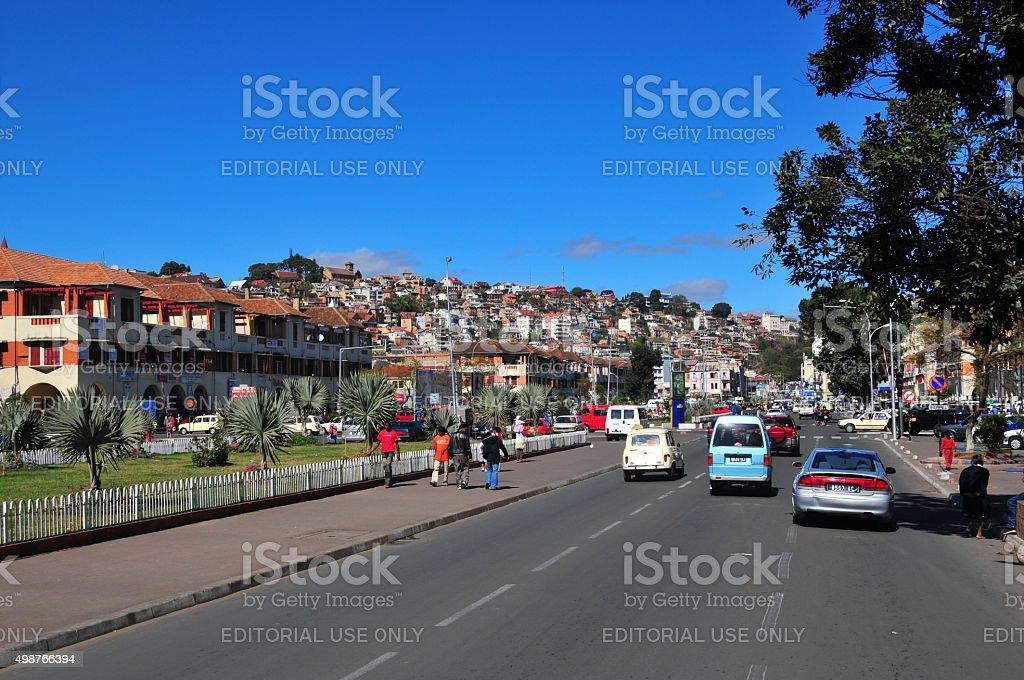 Antananarivo, Madagascar: Le centre-ville de, Independence avenue - Photo