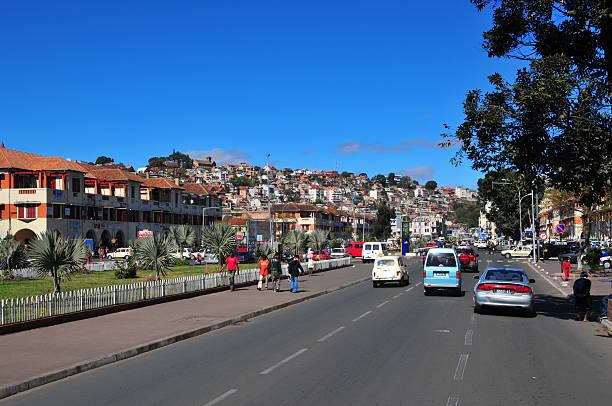 Antananarivo, Madagascar: downtown, Independence avenue stock photo