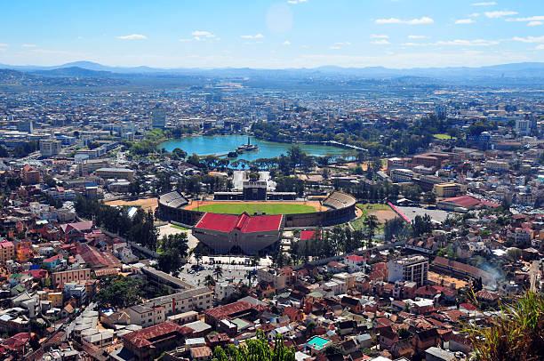 Antananarivo, Madagascar: from above stock photo