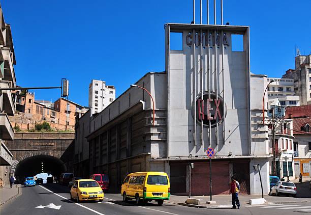 Antananarivo, Madagascar: Rex cinema and tunner stock photo