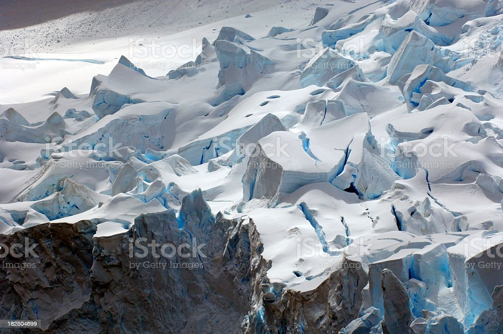 Antarctic blue Glacier royalty-free stock photo