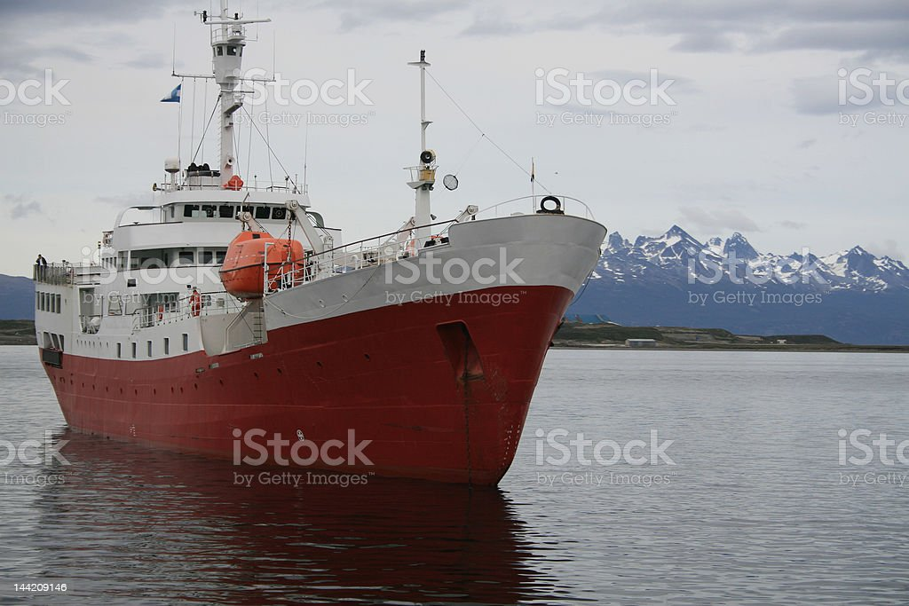 Antarctic boat in the Beagle Channel royalty-free stock photo