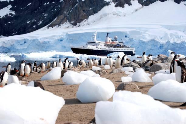 Expedición a la Antártida - foto de stock