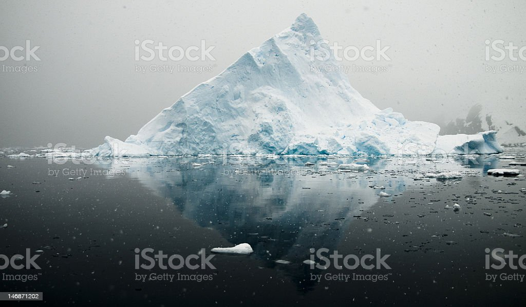 Antarctic iceberg - triangular royalty-free stock photo